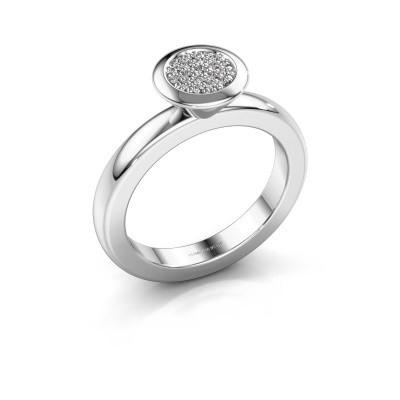Stapelring Rani 950 platina lab-grown diamant 0.098 crt