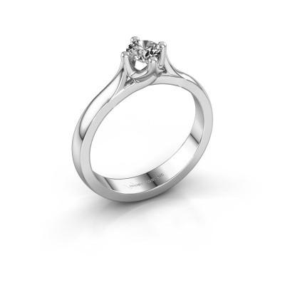 Verlovingsring Eva 585 witgoud diamant 0.25 crt