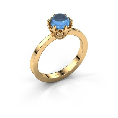 Ring Marly 585 goud blauw topaas 6 mm