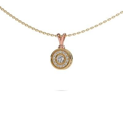 Foto van Hanger Roos 585 rosé goud diamant 0.301 crt