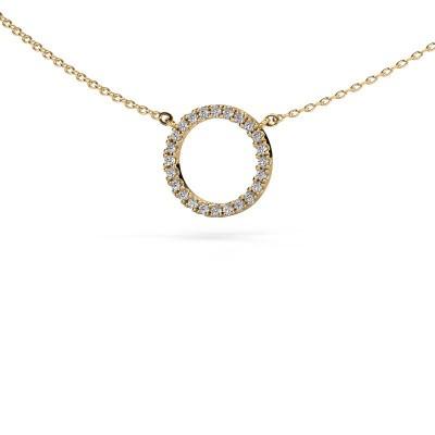 Foto van Hanger Circle 375 goud diamant 0.18 crt