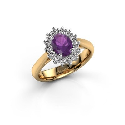 Picture of Engagement ring Margien 1 585 gold amethyst 7x5 mm