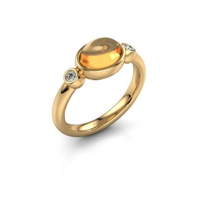 Ring Liane 585 goud citrien 8x6 mm
