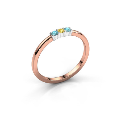 Engagement ring Yasmin 3 585 rose gold yellow sapphire 2 mm
