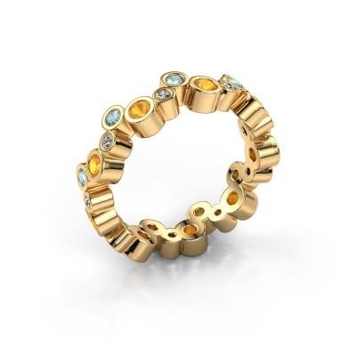Foto van Ring Tessa 585 goud citrien 2.5 mm