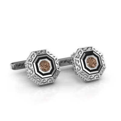 Cufflinks Dion 375 white gold brown diamond 1.00 crt
