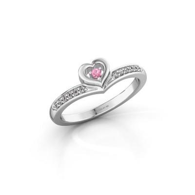 Ring Mimi 950 platinum pink sapphire 2 mm
