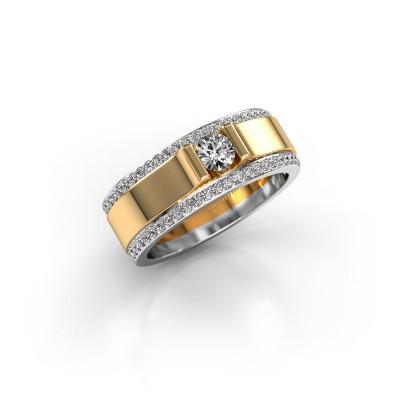 Foto van Herenring Danillo 585 goud diamant 0.705 crt