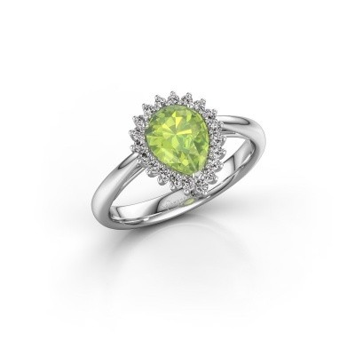 Picture of Engagement ring Chere 1 950 platinum peridot 8x6 mm