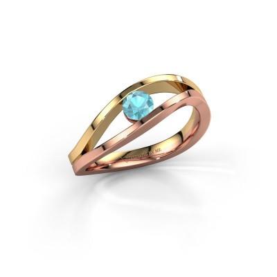 Picture of Ring Sigrid 1 585 rose gold blue topaz 4 mm