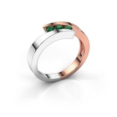 Bild von Ring Gracia 585 Roségold Smaragd 2.7 mm