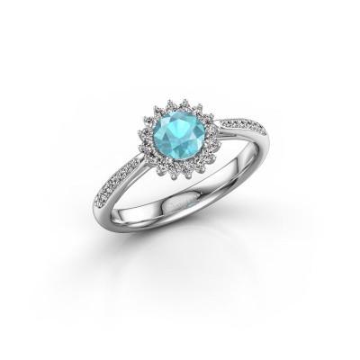 Engagement ring Tilly RND 2 925 silver blue topaz 5 mm