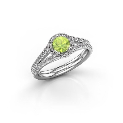 Picture of Engagement ring Verla rnd 2 925 silver peridot 4.7 mm