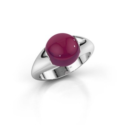 Picture of Ring Robine 375 white gold rhodolite 10 mm