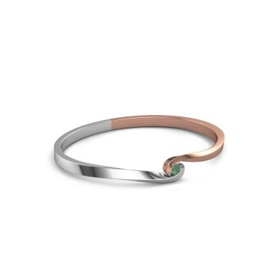 Bangle Sheryl 585 rose gold emerald 3.7 mm