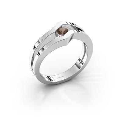 Ring Elize 925 zilver rookkwarts 3.4 mm