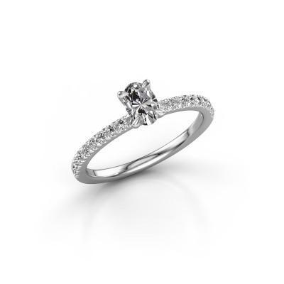 Photo de Bague de fiançailles Crystal OVL 2 925 argent diamant synthétique 0.680 crt