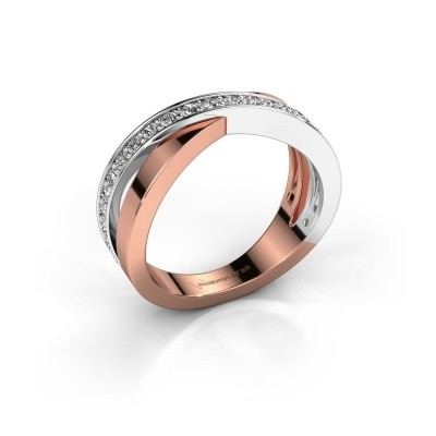Foto van Ring Essie 585 rosé goud lab created 0.36 crt