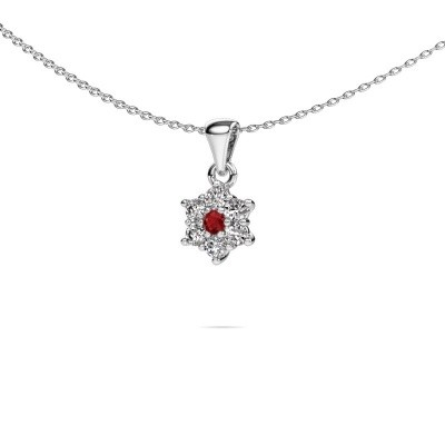 Picture of Necklace Chantal 950 platinum ruby 2.4 mm