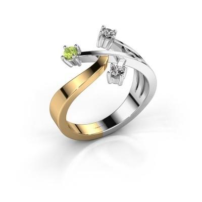 Ring Lillian 585 goud peridoot 2.5 mm
