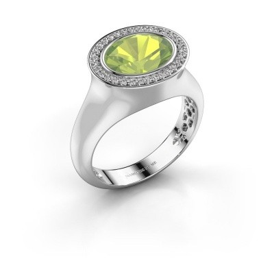 Ring Phebe 925 silver peridot 10x8 mm