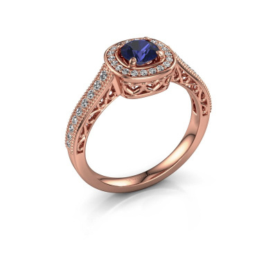 Engagement ring Candi 375 rose gold sapphire 5 mm