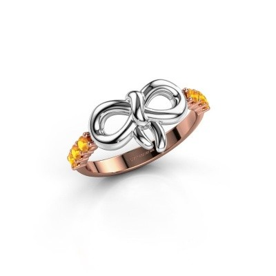 Ring Olympia 585 rosé goud citrien 2.2 mm