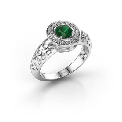 Foto van Ring Katalina 925 zilver smaragd 5 mm