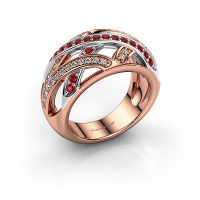 Ring Yinthe 585 rose gold ruby 1.5 mm
