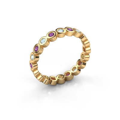 Picture of Stackable ring Edwina 1 585 gold aquamarine 2 mm