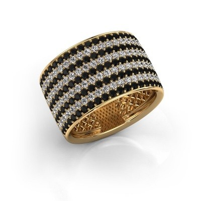 Foto van Ring Macy 375 goud zwarte diamant 2.512 crt