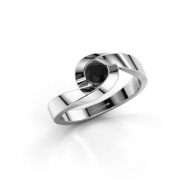Foto van Ring Sheryl 950 platina zwarte diamant 0.30 crt