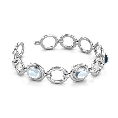 Picture of Link bracelet Maxima 585 white gold aquamarine 10x8 mm