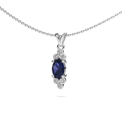 Picture of Pendant Lucy 2 950 platinum sapphire 7x5 mm