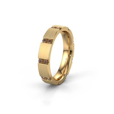 Weddings ring WH2132L14BM 375 gold brown diamond ±4x2.2 mm