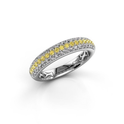 Picture of Ring Emely 4 925 silver yellow sapphire 1.4 mm