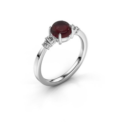Ring Regine 925 silver garnet 6 mm