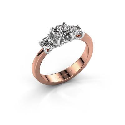 Foto van Verlovingsring Detra 585 rosé goud diamant 1.00 crt