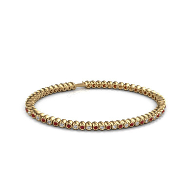 Tennisarmband Bianca 2 mm 375 goud robijn 2 mm