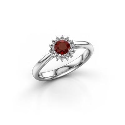 Engagement ring Tilly RND 1 585 white gold garnet 4.2 mm