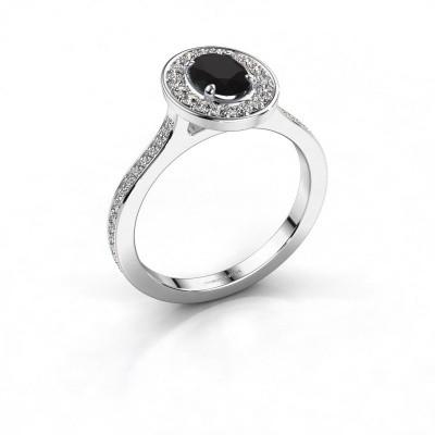 Ring Madelon 2 925 zilver zwarte diamant 1.320 crt
