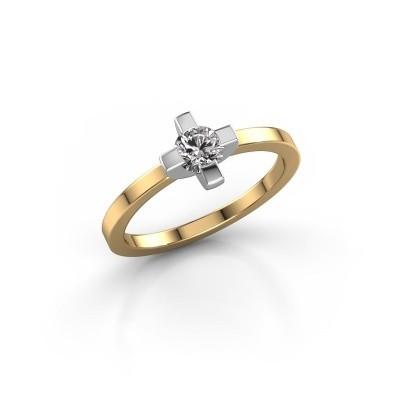 Foto van Ring Therese 585 goud diamant 0.30 crt