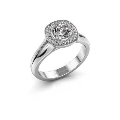 Bild von Ring Carolina 1 585 Weissgold Diamant 0.66 crt