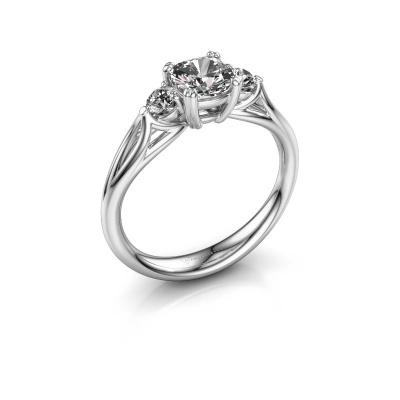 Bild von Verlobungsring Amie cus 585 Weißgold Diamant 0.95 crt