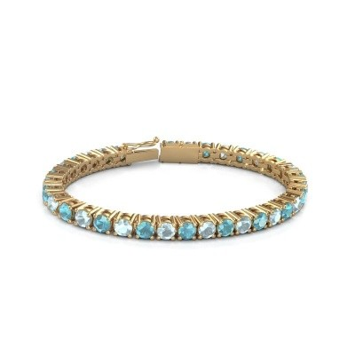 Foto van Tennisarmband Ming 375 goud blauw topaas 5 mm