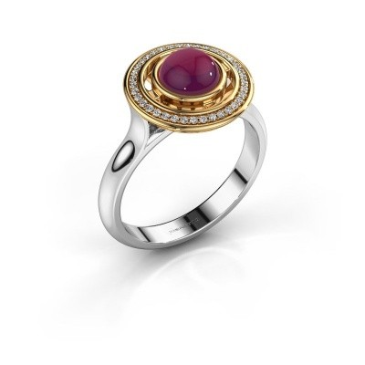 Picture of Ring Salima 585 white gold rhodolite 6 mm