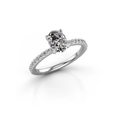 Foto van Verlovingsring Crystal OVL 2 950 platina diamant 1.18 crt