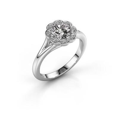 Foto van Aanzoeksring Claudine 585 witgoud lab-grown diamant 0.84 crt