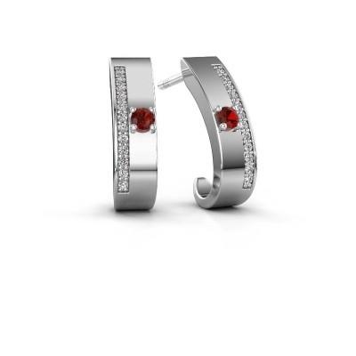 Picture of Earrings Vick1 925 silver garnet 2.4 mm