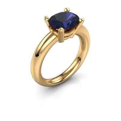 Ring Janiece 585 goud saffier 10x8 mm